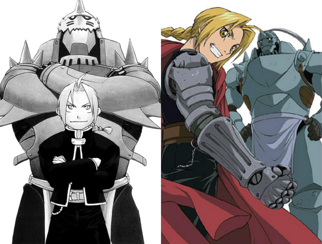 Fullmetal Alchemist Manga vs Anime, Edward e Alphonse