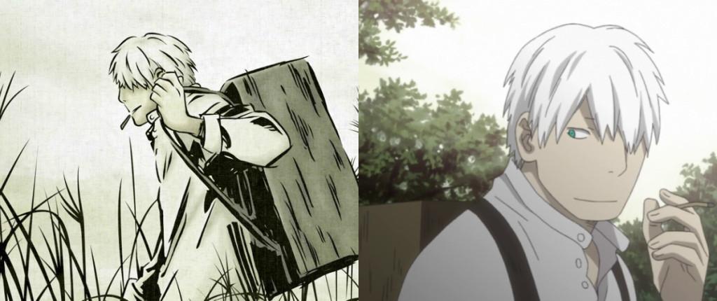 Mushishi Manga vs Anime Ginko