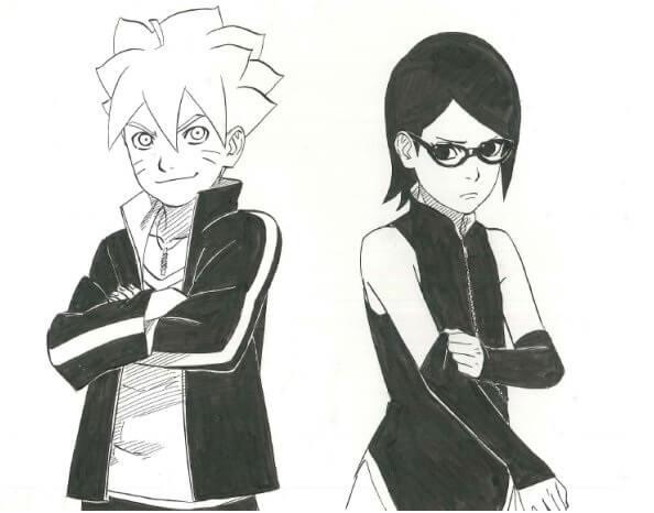 Naruto Spinoff Manga revela Boruto e Sarada