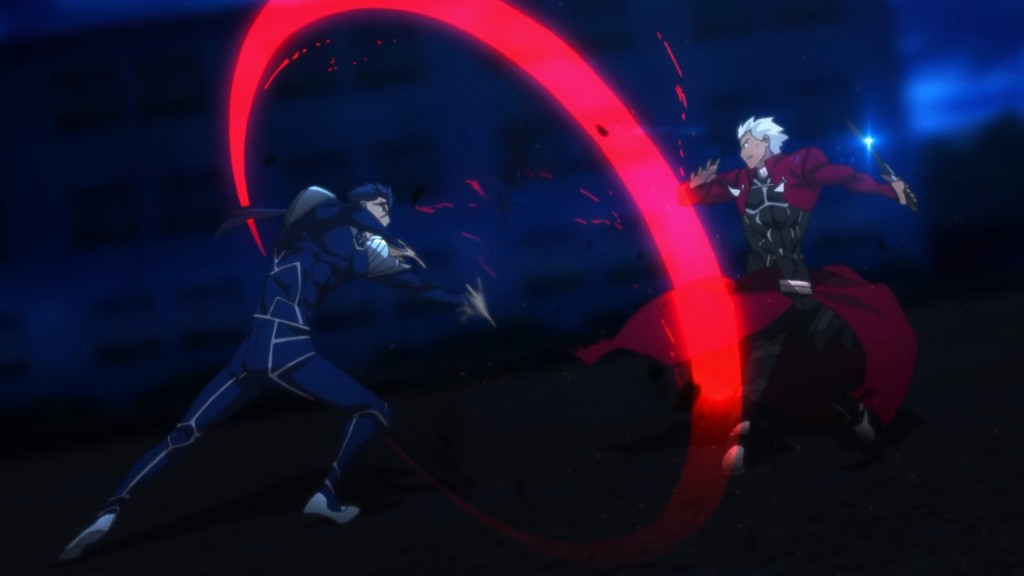 Fate stay night Unlimited Blade Works - Archer vs Lancer
