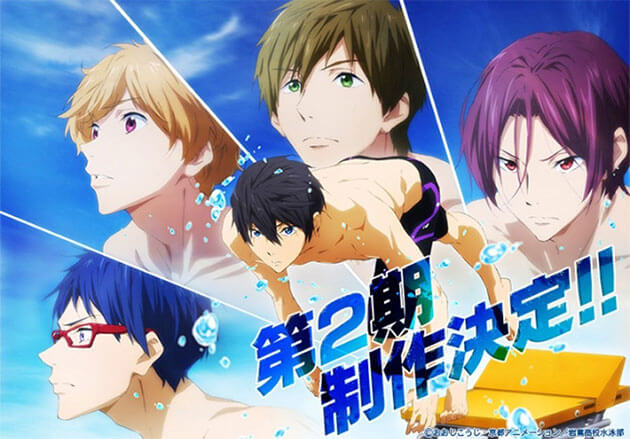 Lista Animes Verão 2014 - Free! Eternal Summer