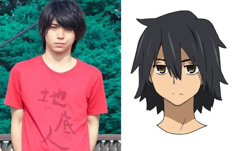 "Nijirō Murakami (Takashi Miike's As the Gods Will, Still the Water) como Jinta ""Jintan"" Yadomi - 18 anos"