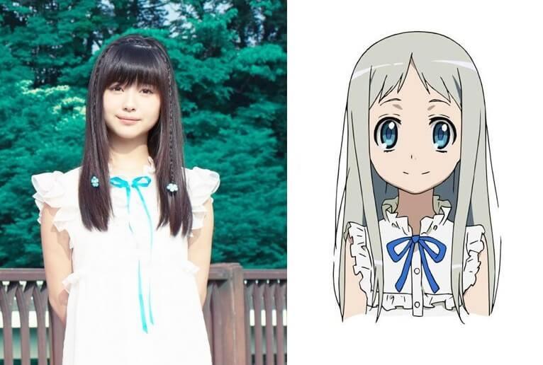 "Minami Hamabe (live-action Ace Attorney) como Meiko ""Menma"" Honma - 14 anos"
