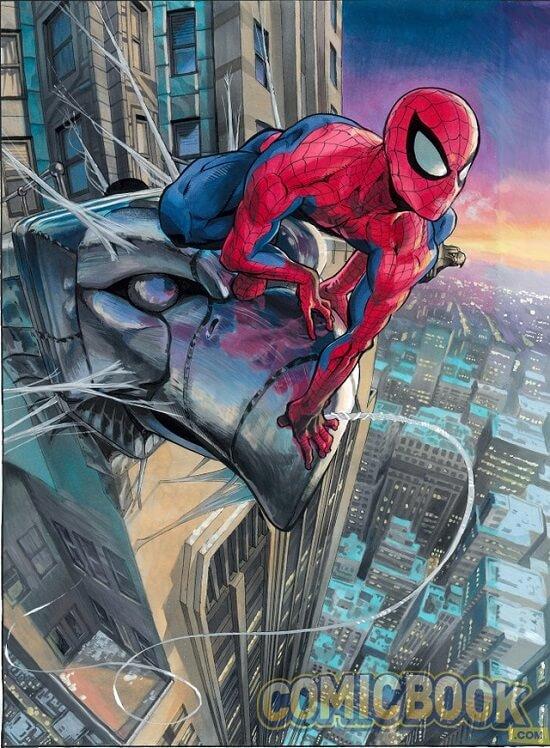 Spider-Island capa por Yusuke Murata (One-Punch Man, Eyeshield 21)