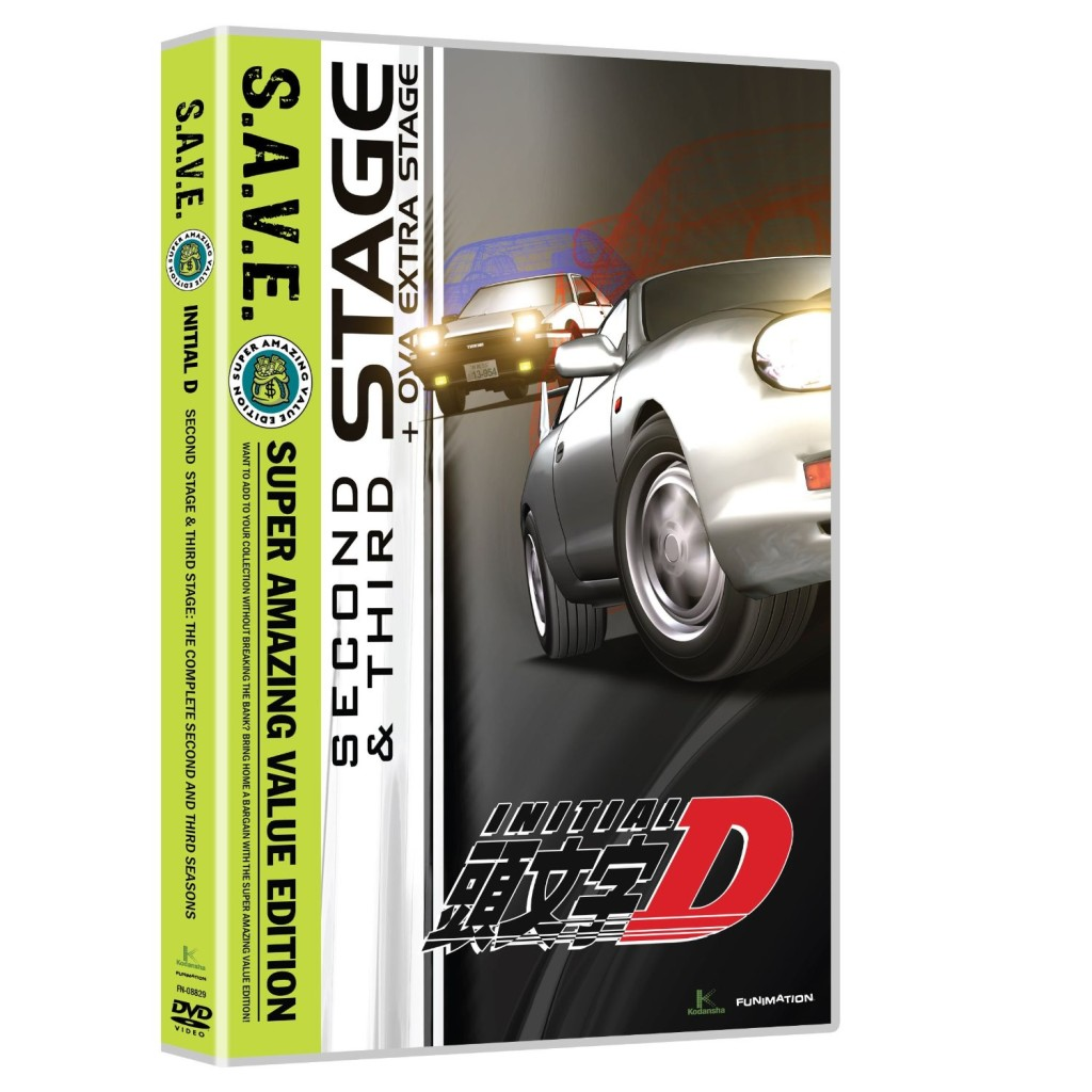DVDs Blu-rays Anime Novembro 2011 | Initial D: Second & Third Stage SAVE