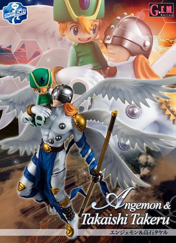 Novas Figuras Digimon Takeru e Angemon