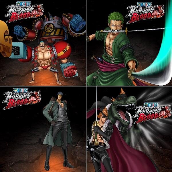 One Piece Burning Blood Character Design Franky Zoro Kuzan XDrake