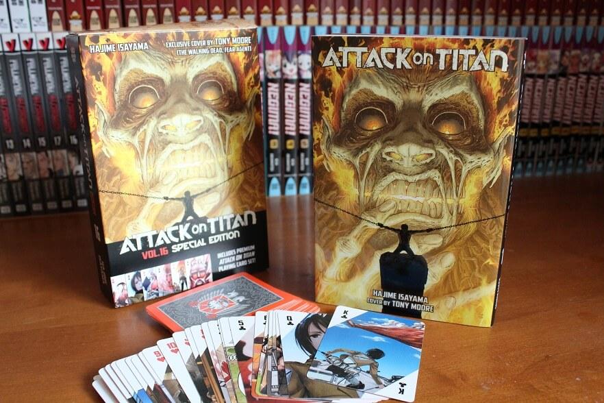 Edições especiais da Manga Attack on Titan na Europa