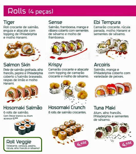 menu hanami sushi parte