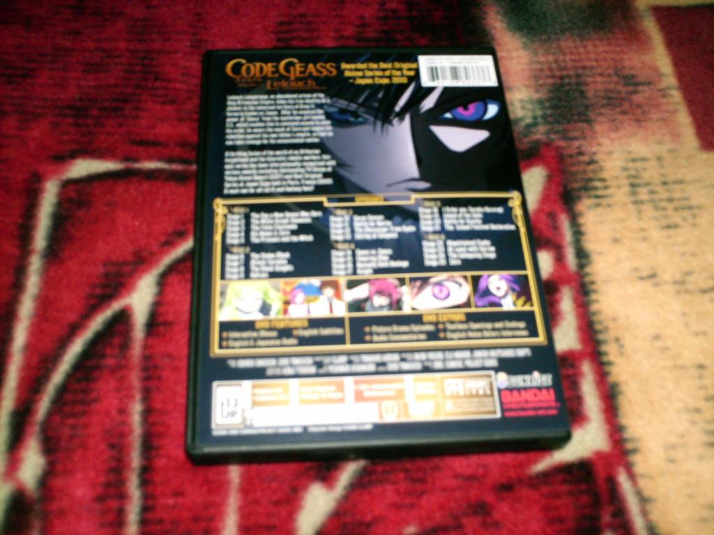 DVD Code Geass The Complete First Season | Bandai Entertainment