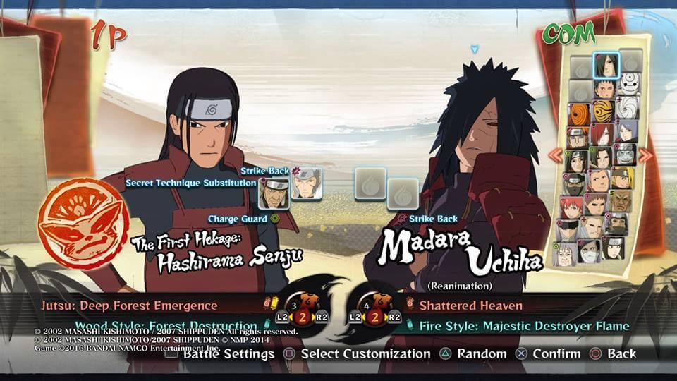 Naruto Storm 4 Hashirama Madara