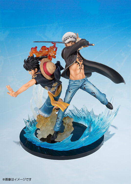 Monkey D Luffy e Trafalgar Law pela Bandai