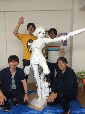 Estátua em Escala Real de Mumei | Koutetsujou no Kabaneri