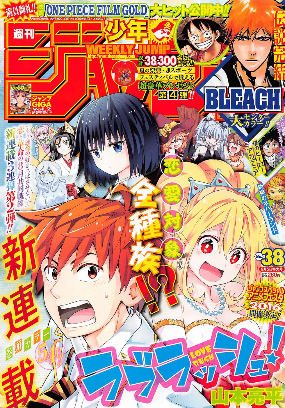 Shonen Jump Volume 38 ToC