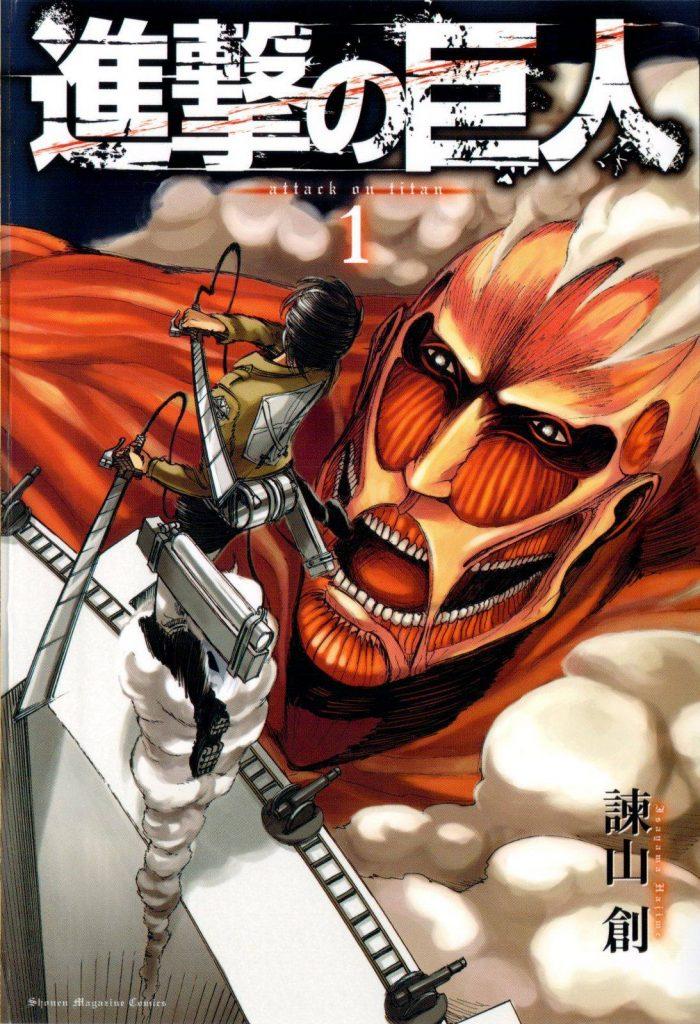Top 10 Mangas mais vendidos 2016 Attack on Titan Volume 1