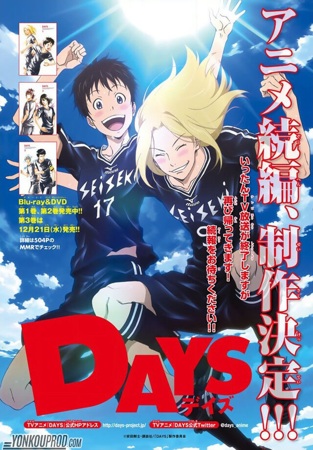 DAYS vai Regressar após Final do Segundo Cour | Anime