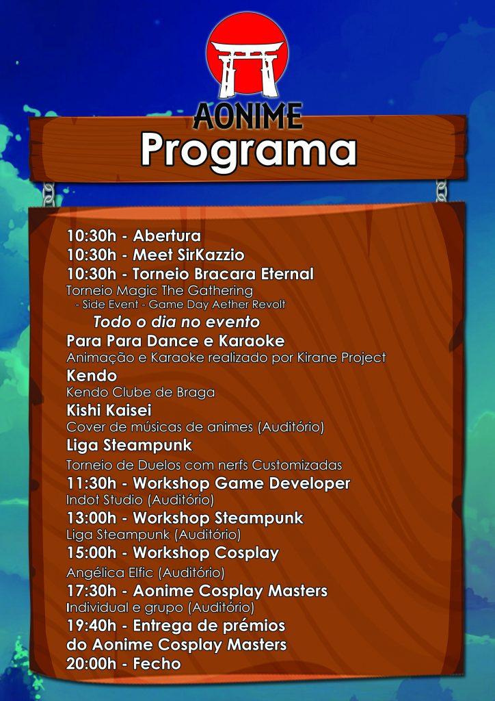 Aonime 2017 - Programa