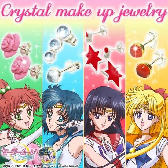 Bandai lança nova linha de brincos Sailor Moon