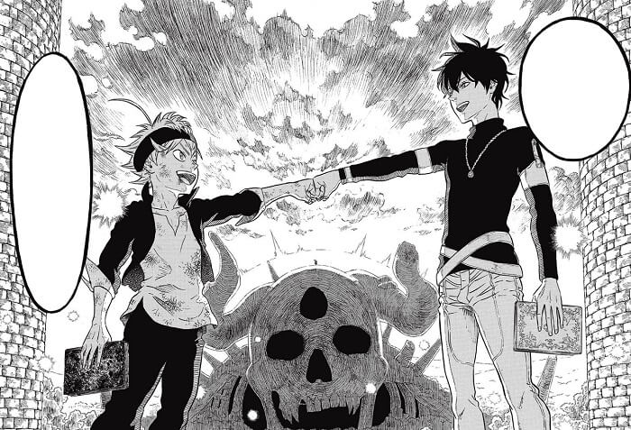 Black Clover manga highlight v1_Fist bump