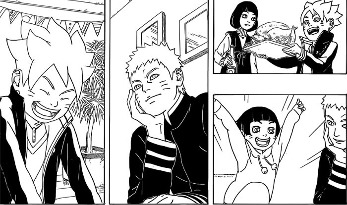 Boruto Naruto Next Generation manga highlight v1_family birthday