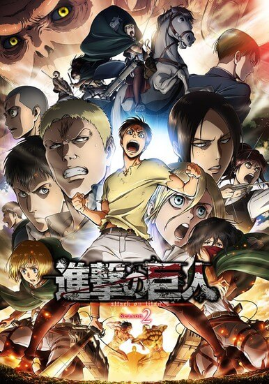 Attack on Titan Segunda Temporada apresenta Novo Poster | Attack on Titan Segunda Temporada - Segundo Trailer | Attack on Titan Segunda Temporada listada com 12 Episódios