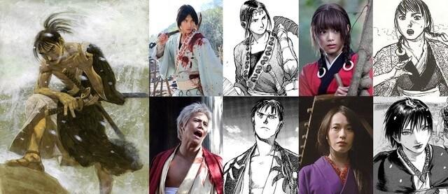 Blade of the Immortal Live Action compara Elenco com Manga