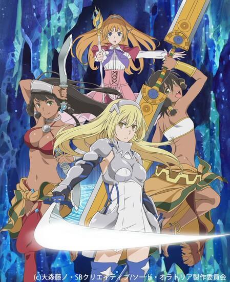 Anime DanMachi Sword Oratoria revela Novo Poster Promo
