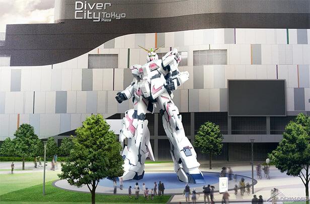 RX-0 Unicorn em tamanho real para estrear este outono
