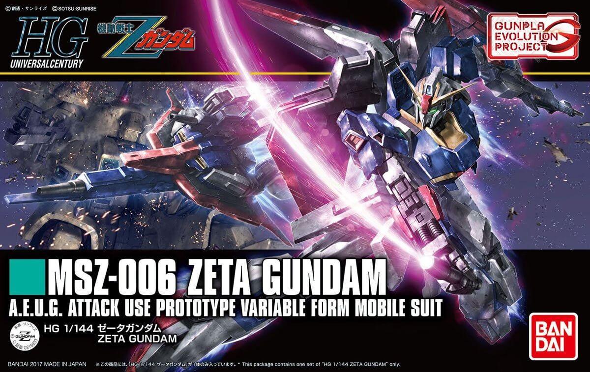 High Grade 1/144 Zeta Gundam - Gunpla Evolution Project   Lançamento