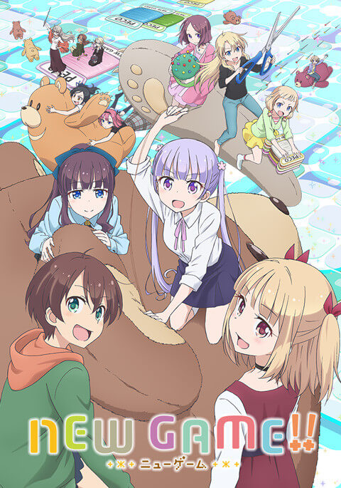 New Game Segunda Temporada revela Poster e Data de Estreia Poster