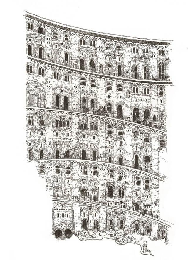 Katsuhiro Otomo revela Pintura inspirada na Tower of Babel de Bruegel