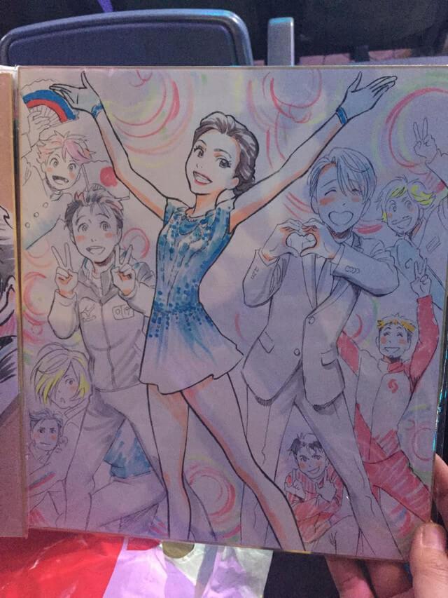 Evgenia Medvedeva Recebe homenagem de Yuri on Ice