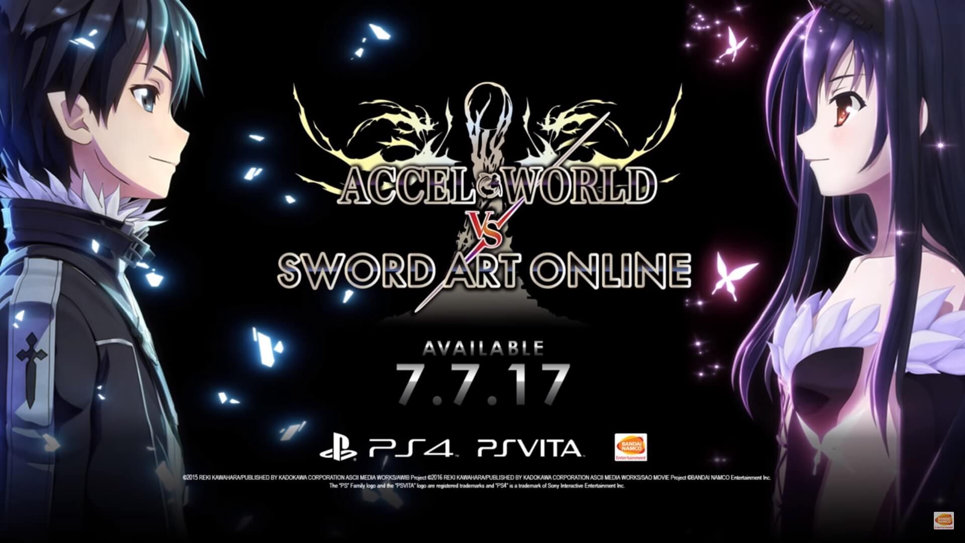 Accel World vs Sword Art Online revela Trailer e Data