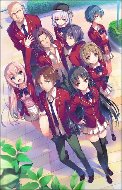 Youkoso Jitsuryoku Shijou Shugi no Kyoushitsu e - Anúncio Anime | Youkoso Jitsuryoku Shijou Shugi no Kyoushitsu e - Equipa Técnica