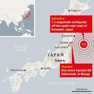 quando a terra treme no japão