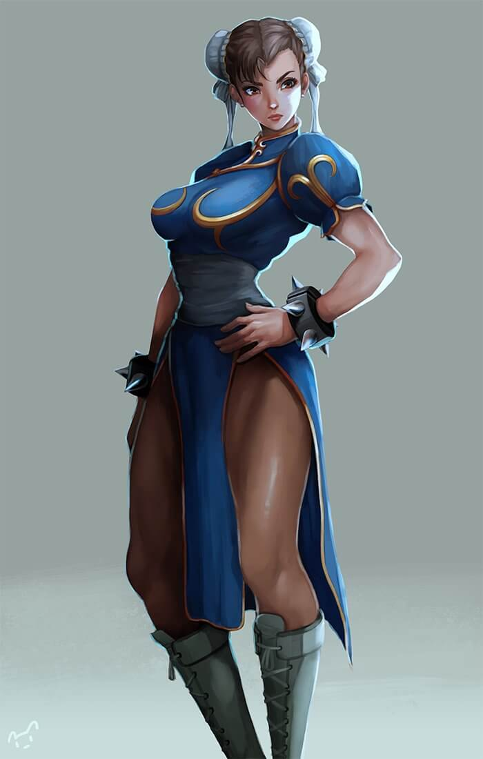 Top 10 Personagens Femininas de Videojogos - Ricardo Nogueira - Chun-Li Street Fighter