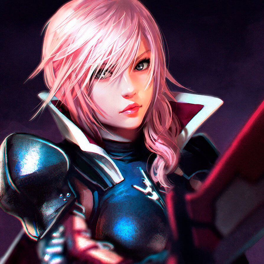 Top 10 Personagens Femininas de Videojogos - Ricardo Nogueira - Lightning Final Fantasy XIII