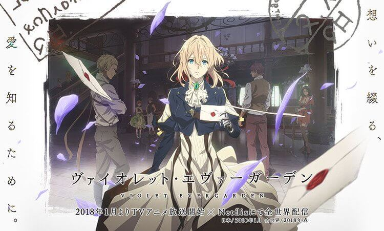 Violet Evergarden - Anime revela Trailer 3 e Novo Poster