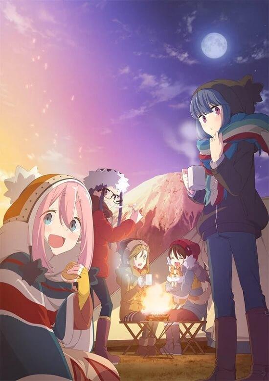 Yuru Camp - Anime apresenta Novo Poster | Yuru Camp - Anime revela Segundo Vídeo Promocional | Yuru Camp Anime - Segunda Temporada e Filme
