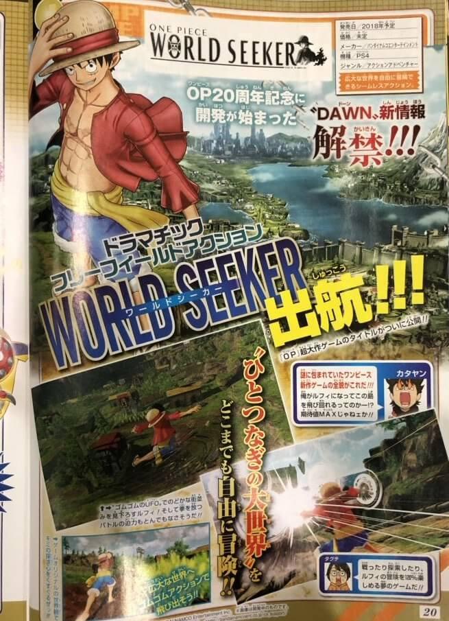 One Piece World Seeker - Trailer e Informações sobre o Jogo