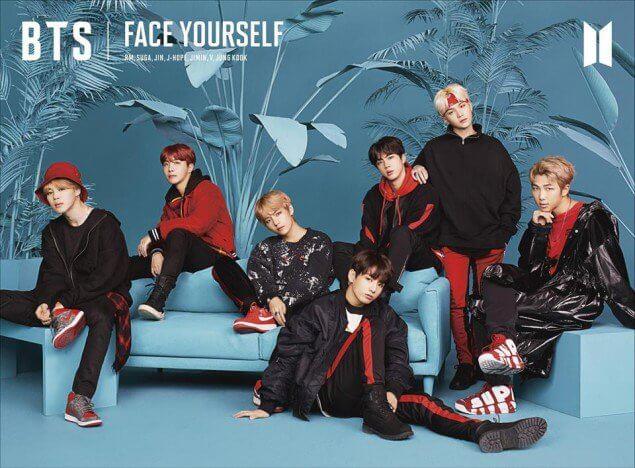 BTS recebem Platina pela 3 vez no Japão com Face Yourself