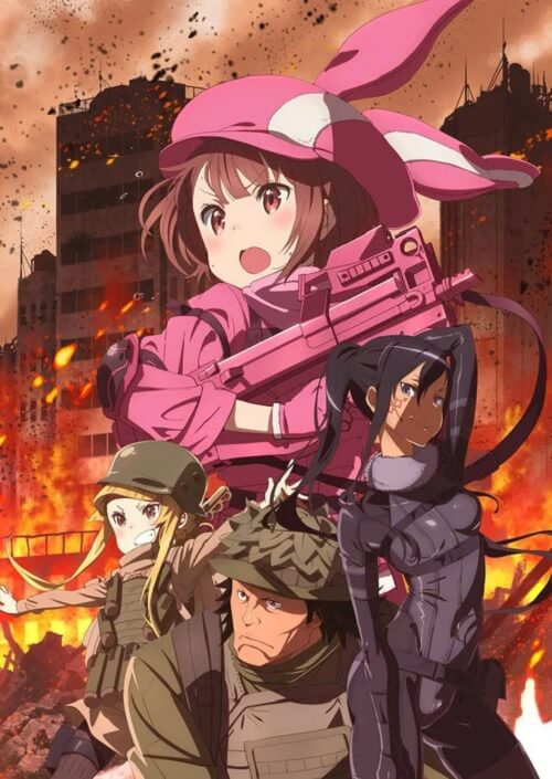 SAO Alternative Gun Gale Online Anime - Novo Poster e Estúdio
