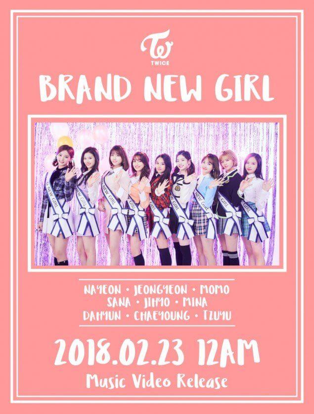 TWICE revelam Imagem Surpresa do MV de Brand New Girl
