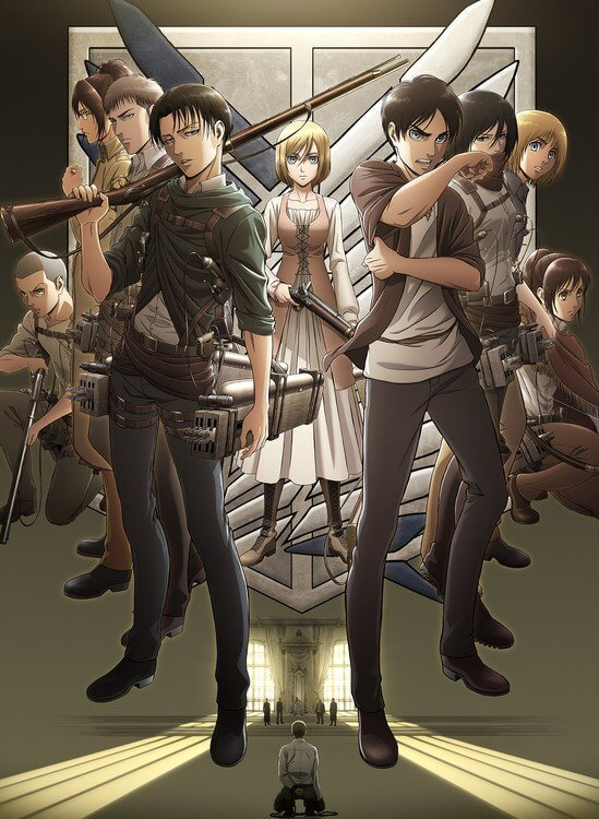 Attack on Titan Temporada 3 - Novo Trailer Revela Data de Estreia Poster Promocional