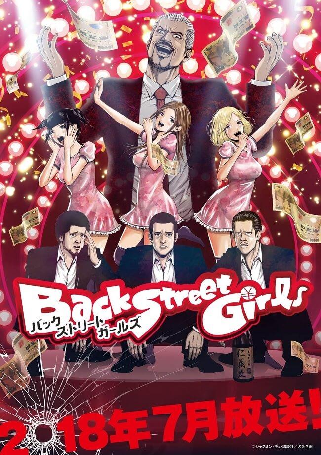 Back Street Girls - Anime revela Posters e Equipa Técnica | Back Street Girls - Anime revela Estreia