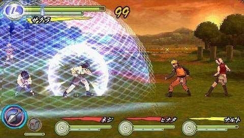 Naruto Shippuden: Ultimate Ninja Heroes 3 - Gameplay PSP