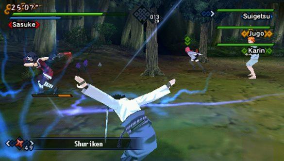 Naruto Shippuden: Kizuna Drive - Gameplay PSP