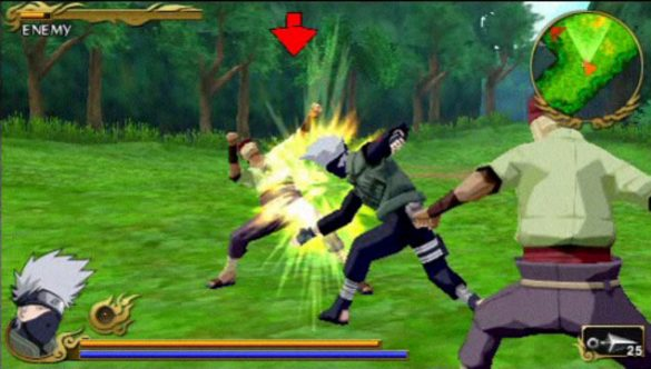 Naruto Shippuden: Legends - Akatsuki Rising - Gameplay PSP