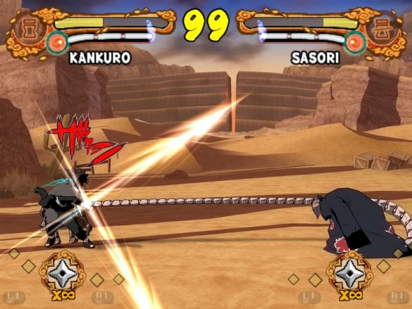 Naruto Shippuden Ultimate Ninja 4 - Gameplay Playstation 2