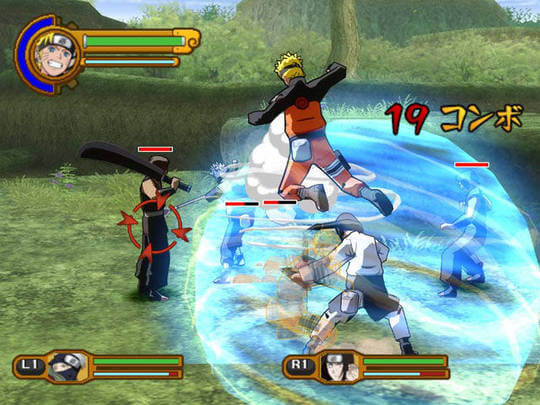Naruto Shippuden Ultimate Ninja 5 - Gameplay PS2